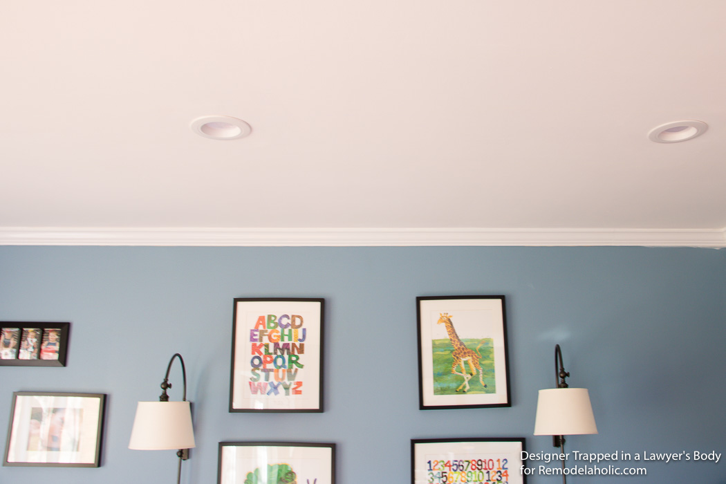 Remodelaholic | How to Install Recessed Lights Without Attic Access