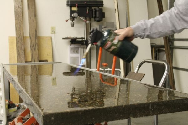 how to make your own solid concrete DIY countertops with forms and tinted concrete (9)