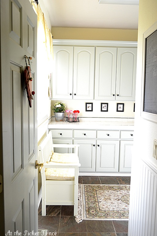 large mudroom and laundry room | 100+ Beautiful Mudrooms and Entryways at Remodelaholic.com