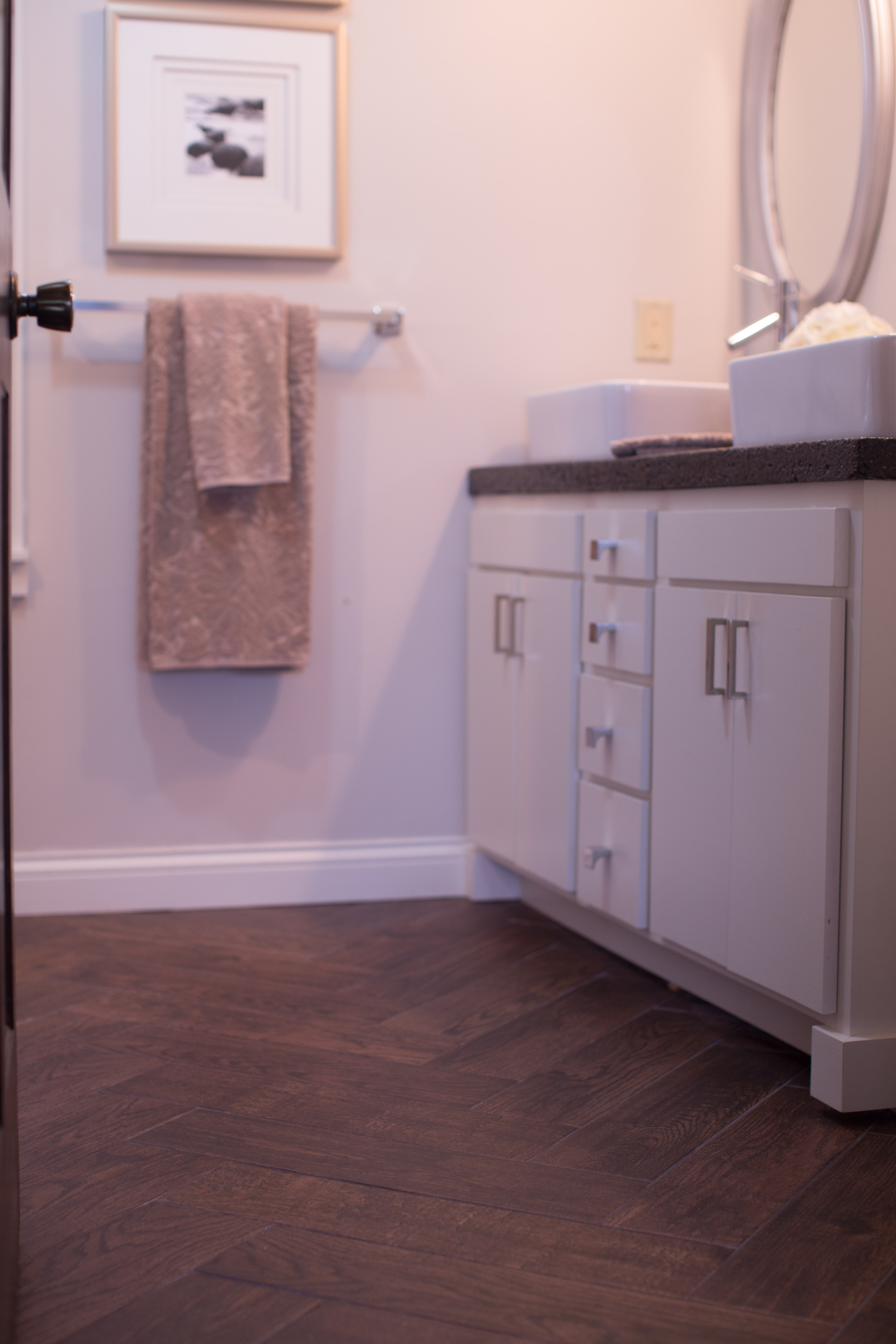master bathroom renovation with diy concrete countertops construction2style on remodelaholic 23 - Concrete Bedroom 2016