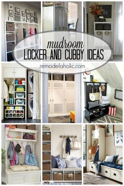 mudroom locker and cubby ideas via remodelaholic.com