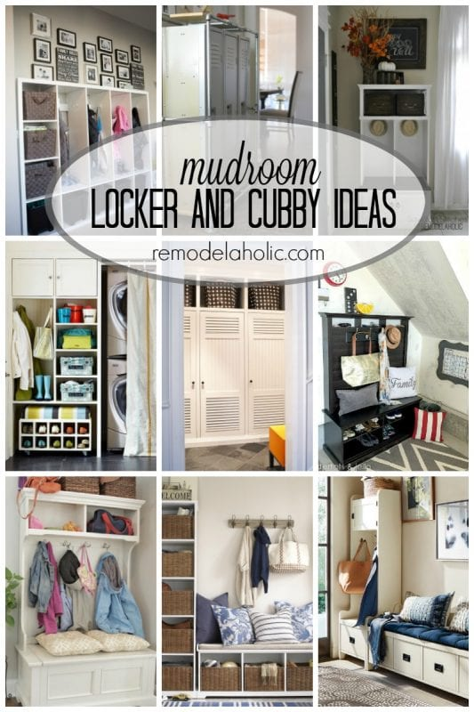 Tons of mudroom locker and cubby ideas via remodelaholic.com. This needs to happen in my entryway!