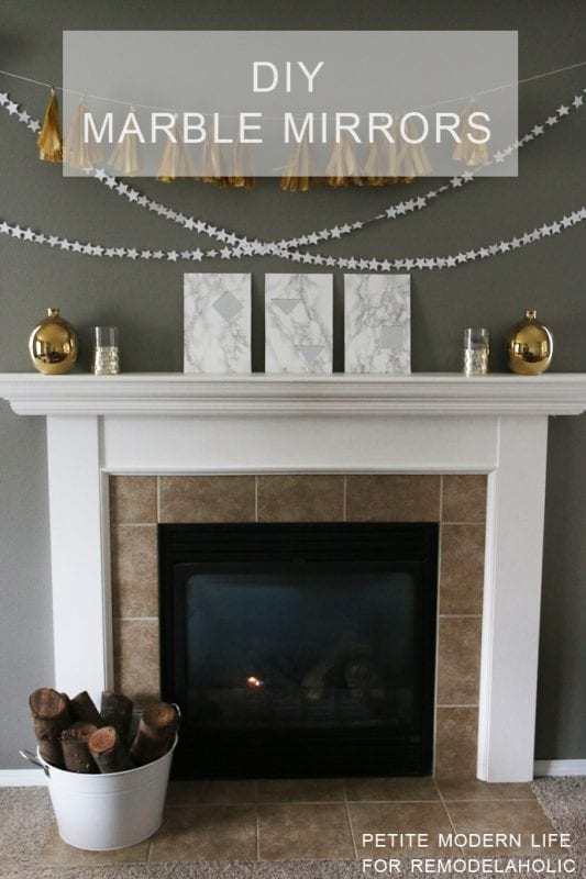 DIY Faux Marble Mirrors -- such a fun way to add some chic marble to a room!