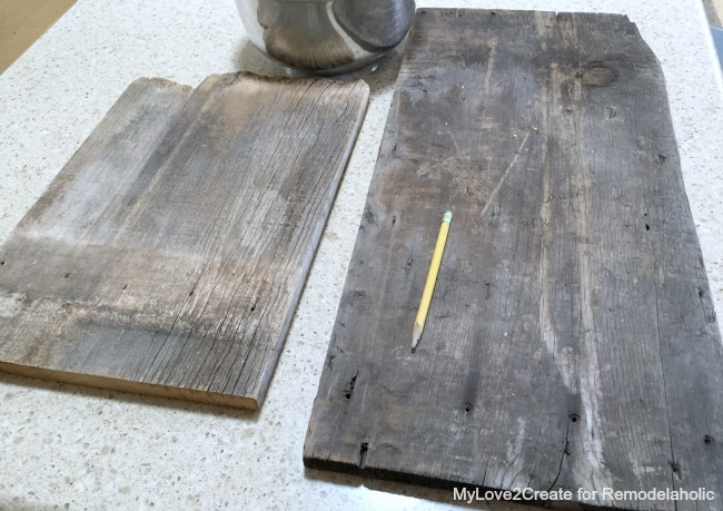 reclaimed wood to make antique cutting boards, MyLove2Create for Remodelaholic