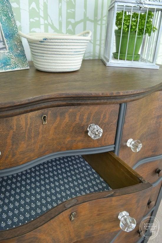 Spectacular refinished antique oak dresser Refresh Living