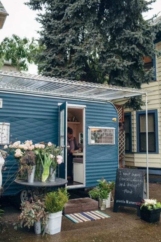 renovated trailer into flower cart Apartment Therapy