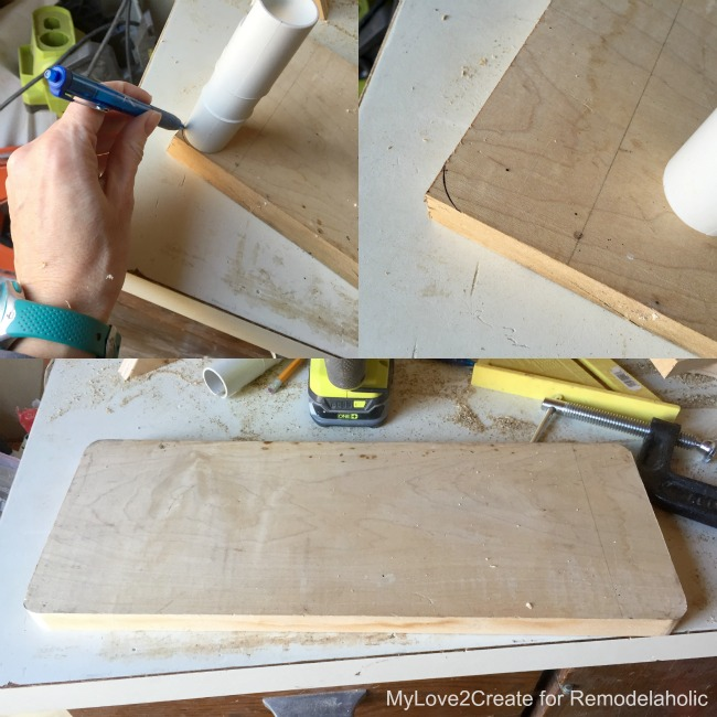 rounding cutting board corners, MyLove2Create for Remodelaholic