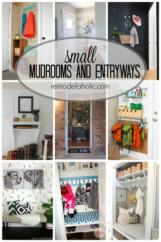 Small mudrooms and entryways via remodelaholic.com -- This is more like real life!