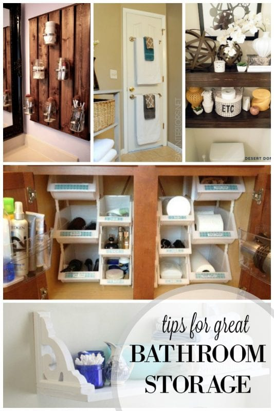 tips for great bathroom storage