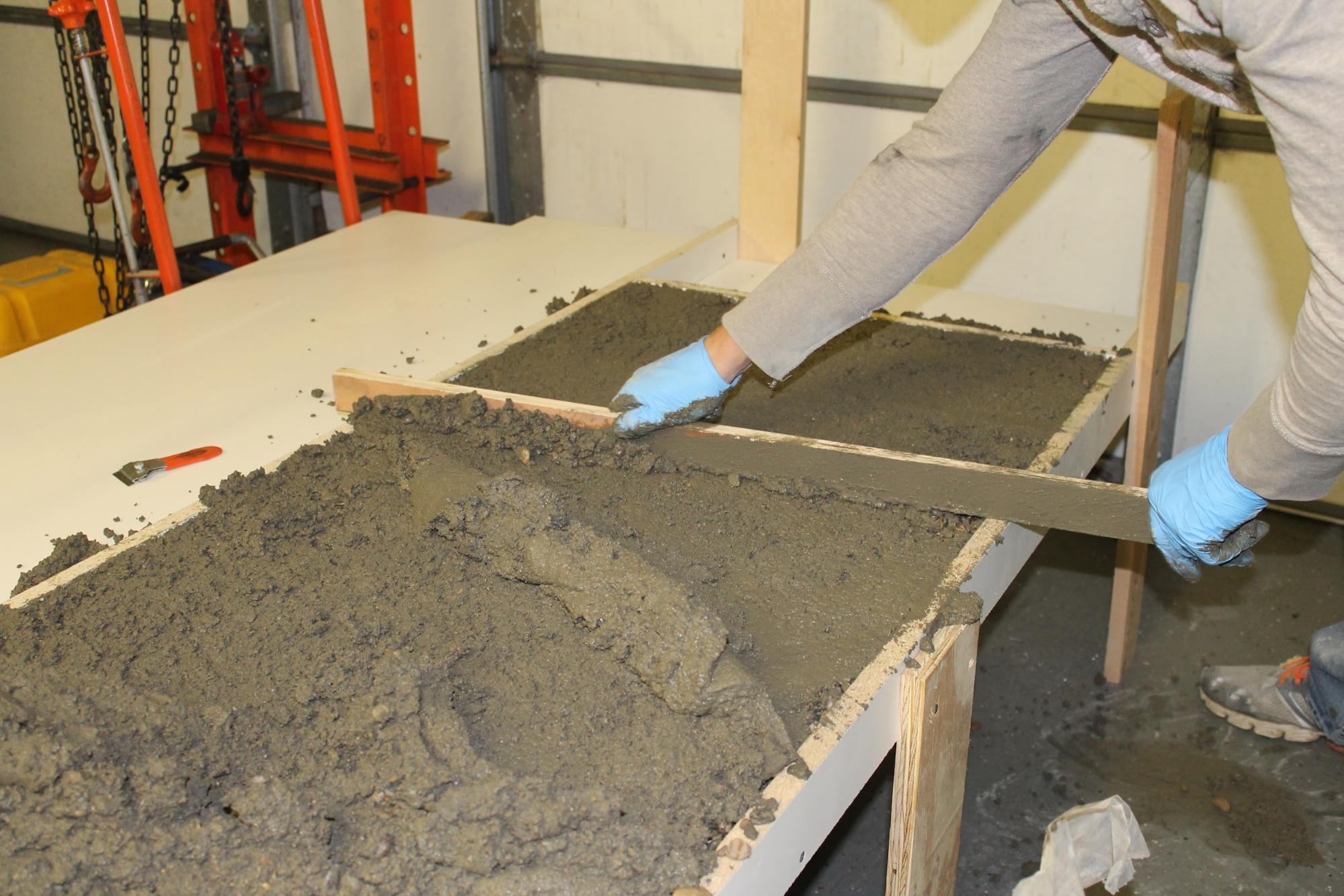 Self Leveling Concrete Countertop : Remodelaholic diy concrete countertops in a beautiful