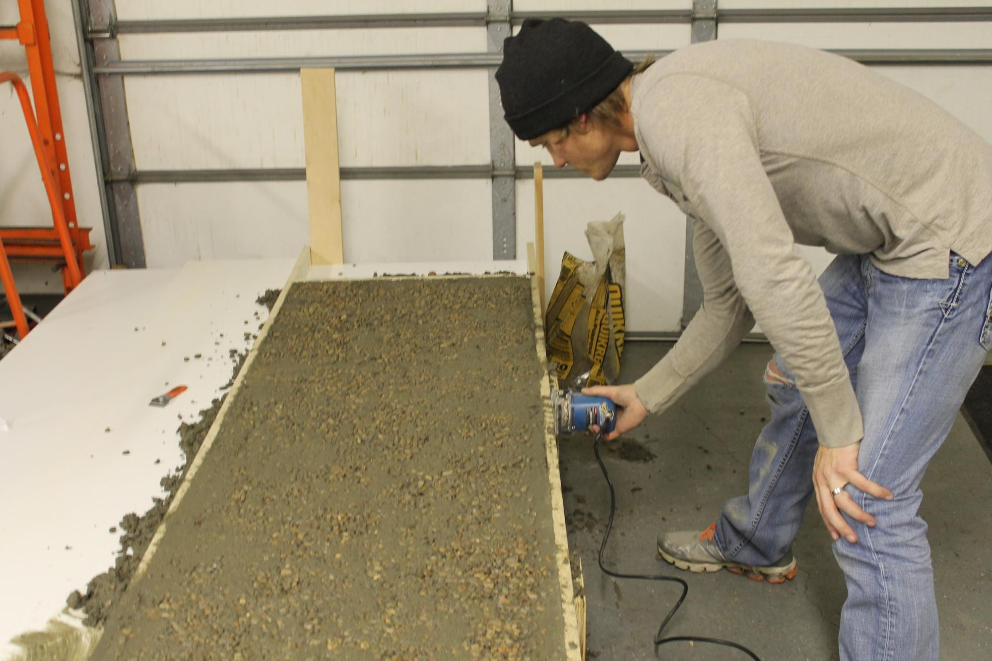 Remodelaholic diy concrete countertops in a beautiful for Make your own cement
