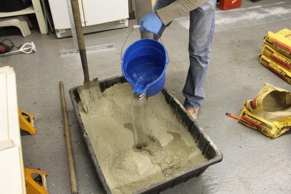 how to mix concrete for DIY concrete countertops