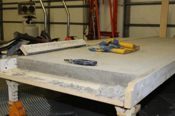 removing DIY concrete countertops from the mold