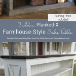 Woodworking Plans, DIY Farmhouse TV Console Sideboard, The Gritty Porch For Remodelaholic