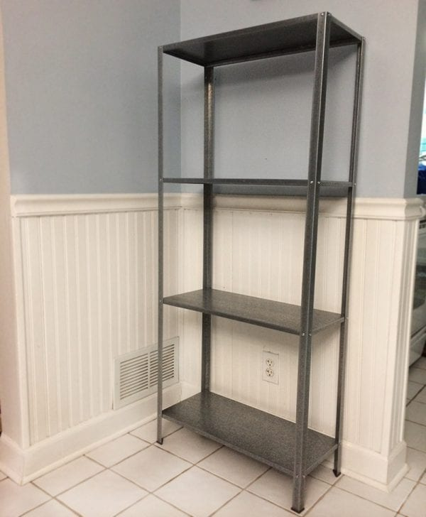 ikea metal bookshelf remodelaholic wood and metal ikea industrial shelf 415
