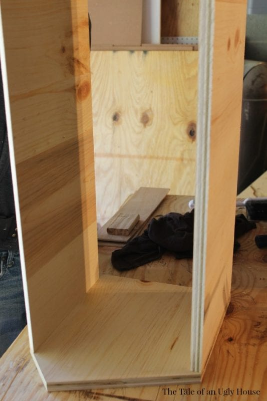Build your own toy cubby for your kids room by Tale of an Ugly House featured on @Remodelaholic