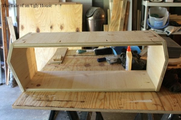 Step by step tutorial for building a toy organizerby Tale of an Ugly House featured on @Remodelaholic