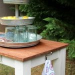 Outdoor Buffet by Tale of an Ugly House featured on @Remodelaholic