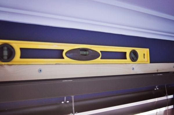 how to hang a wood window cornice box or wood valance