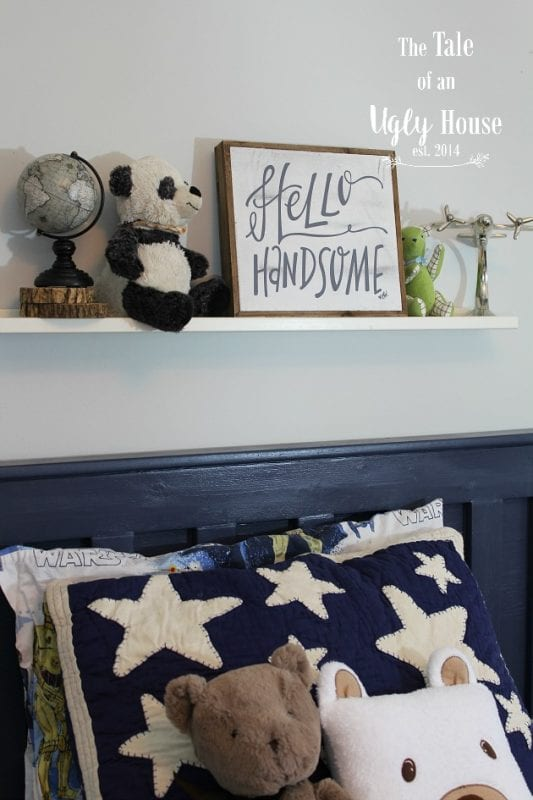 Baby boy bedroom decor and ideas by Tale of an Ugly House featured on @Remodelaholic