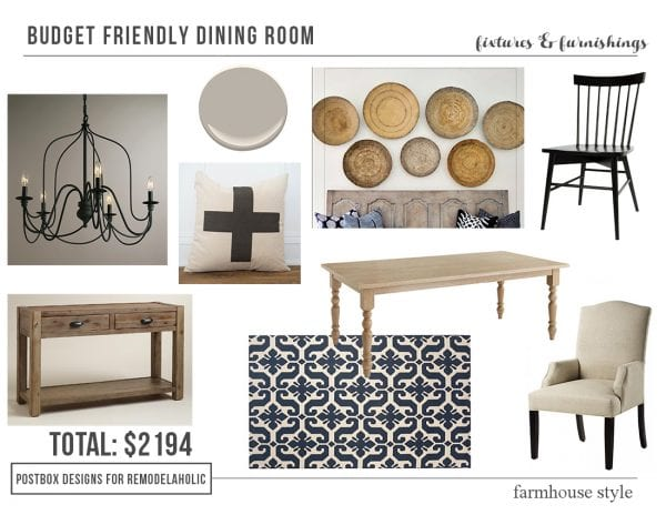 Budget Friendly Farmhouse Dining Room