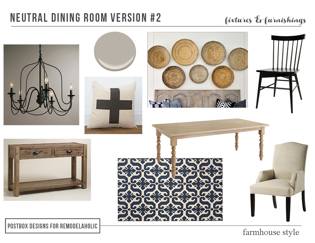 remodelaholic | high-low farmhouse dining room decor
