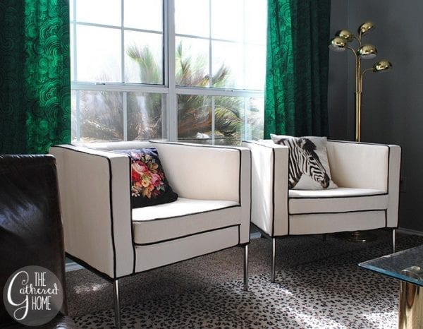 DIY Ikea hack cream and black club chairs24[3]