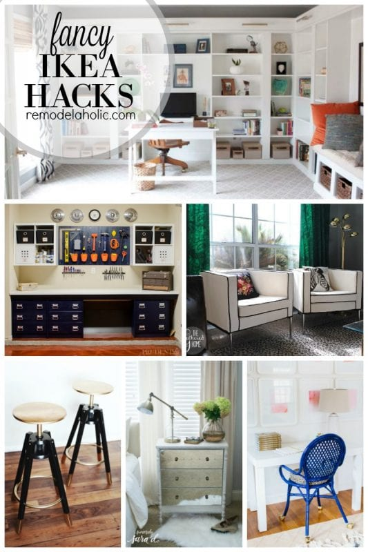 Fancy IKEA hacks featured on remodelaholic.com