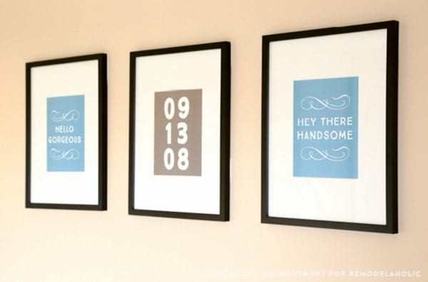 Printable Love Wall Art: His and Hers Master Bedroom Art with Custom Anniversary Printable