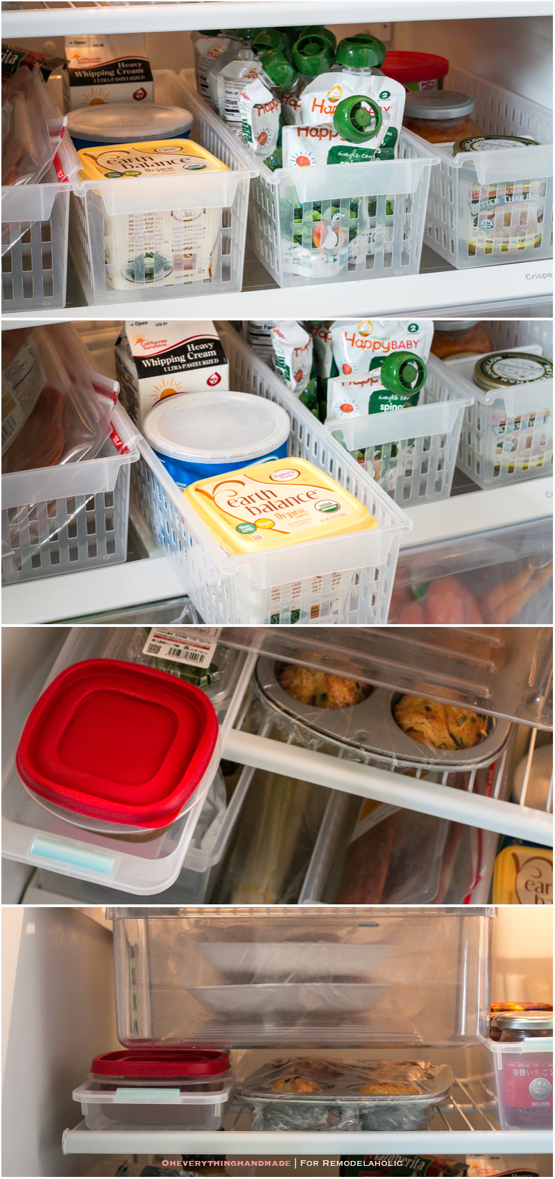 Fridge Organizing Tips- Use all spaces possible