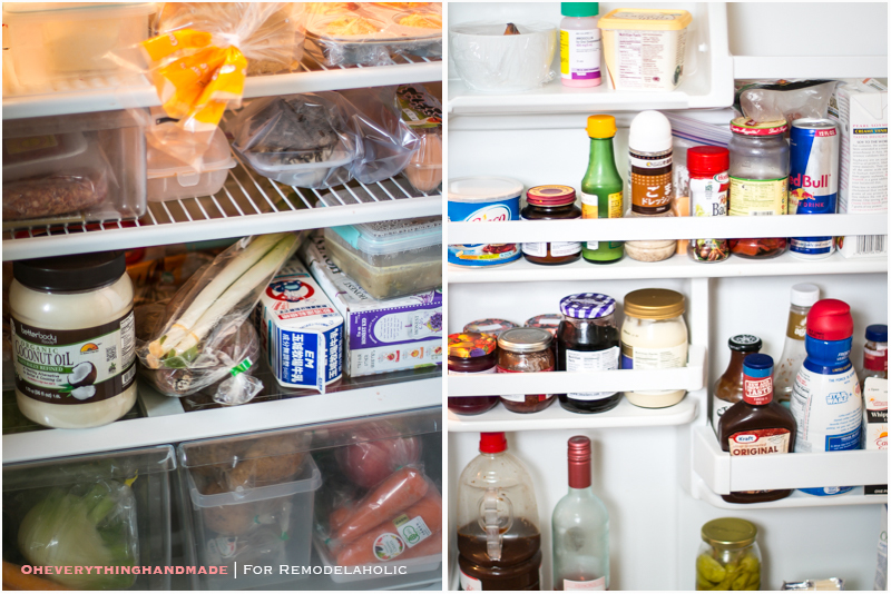 Fridge Organizing Tips - Before