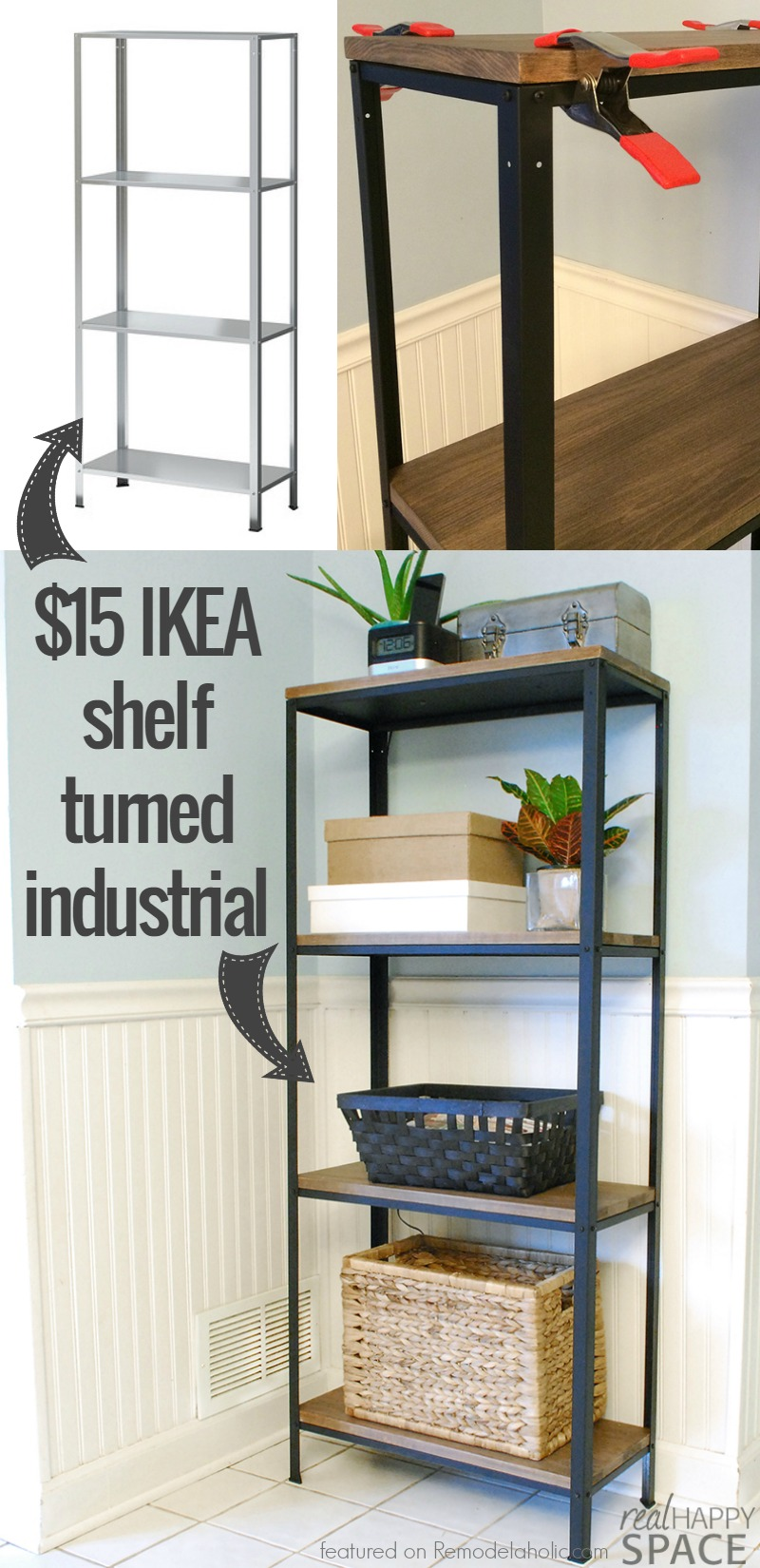 How To: IKEA Hack Industrial Shelf By Suzy Of Real Happy Space