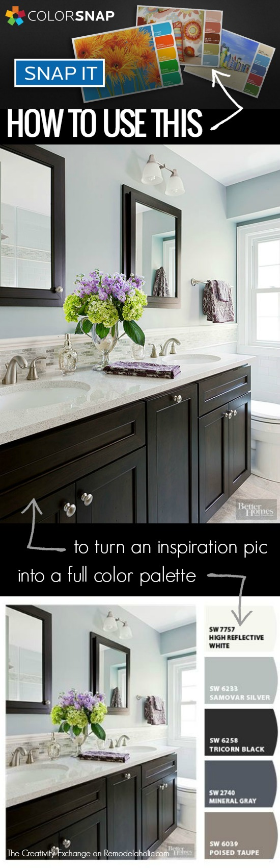 How to use this FREE online tool to create a color palette from an inspiration picture and use it to make decisions about your decor @Remodelaholic