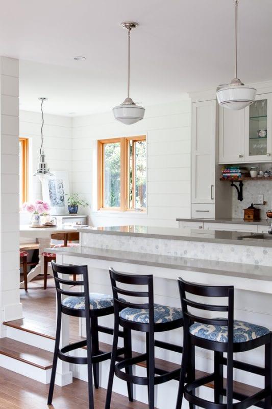 Light Gray Hexagon Tile Backsplash Kitchen The House Diaries