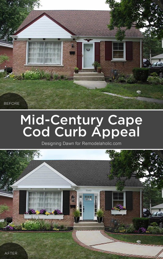 Remodelaholic reader question mid century cape cod curb for Redesign the outside of your home