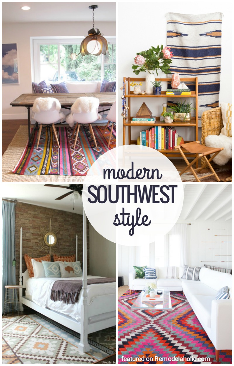 Remodelaholic inspiration file wild modern for Southwest style home designs