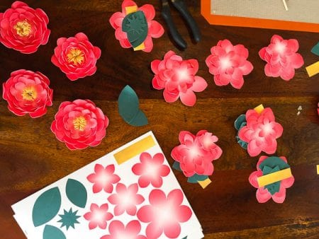 Paper Flower Garland Tutorial with Canon printer @remodelaholic (5 of 6)