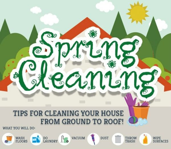 Spring cleaning from ground to roof