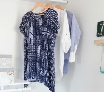 Neglected Corner Turned Boutique-Style Closet + Super Easy DIY Jewelry Hanger