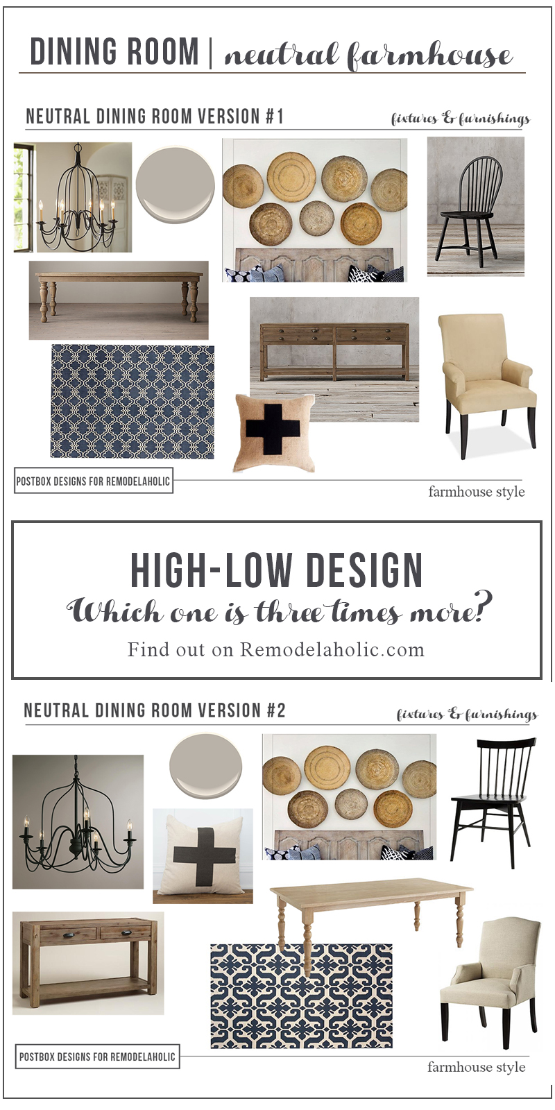 Vertical High Low Farmhouse Dining