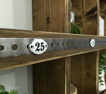 Rustic Wood and Metal DIY Wall Cubby Shelf
