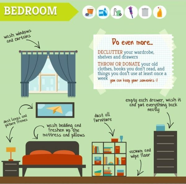 bedroom spring cleaning tips