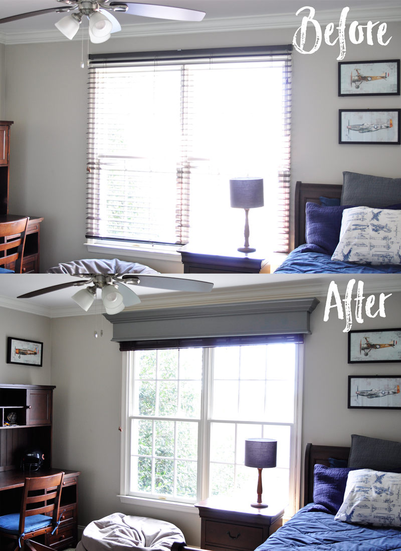 diy window cornice detailed stepbystep photo tutorial to build and hang