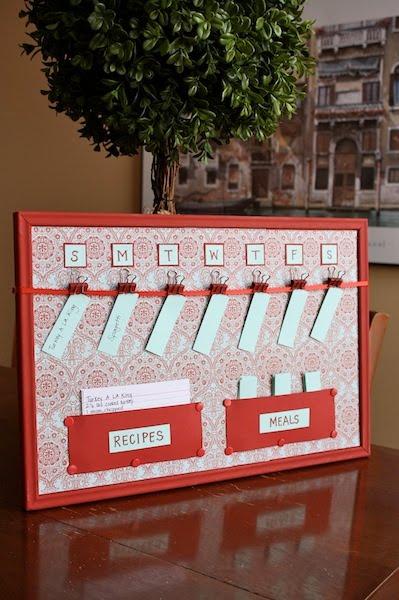 binder clip menu board organizer