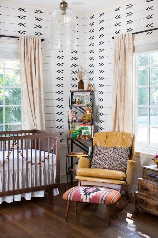 colorful southwestern style nursery via Mini Style Blog