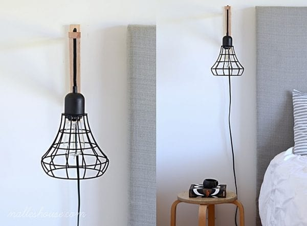 diy cage light sconce Nalles House