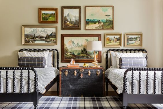 Shared Kids Space Inspiration -- such a fun classic space!