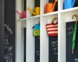feat Chalkboard-Mudroom-Lockers