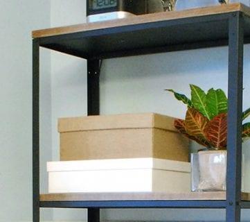 Wood and Metal IKEA Hack Industrial Shelf