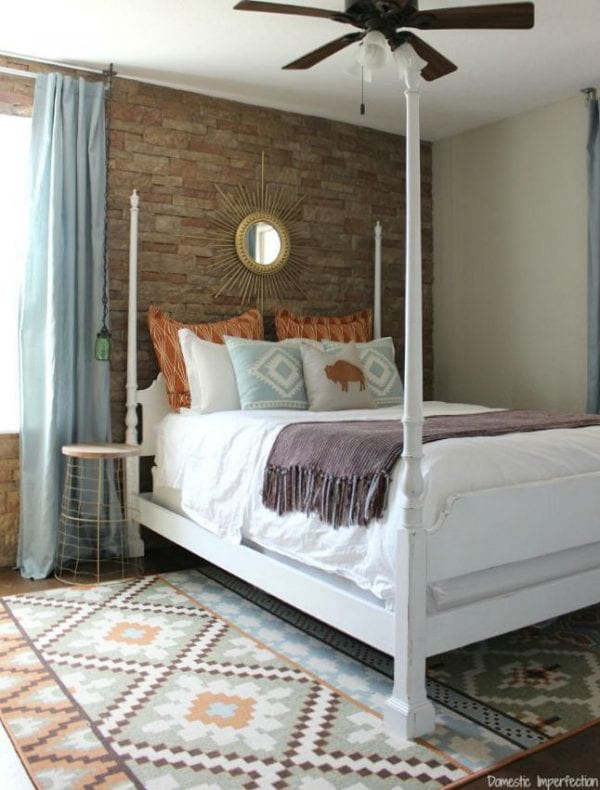 southwestern style bedroom Domestic Imperfection